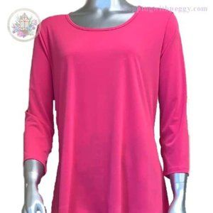 Pink High Low Tunic Top
